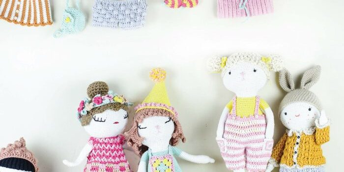Crochet Cuties Patterns for 24 Dolls and 60 Clothes and Accessories