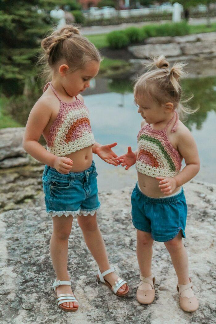 Rainbow Halter Crochet Pattern