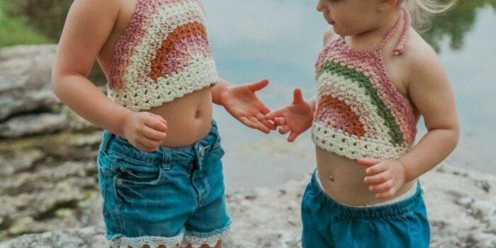 Rainbow Halter Crochet Pattern by CrochetGarden
