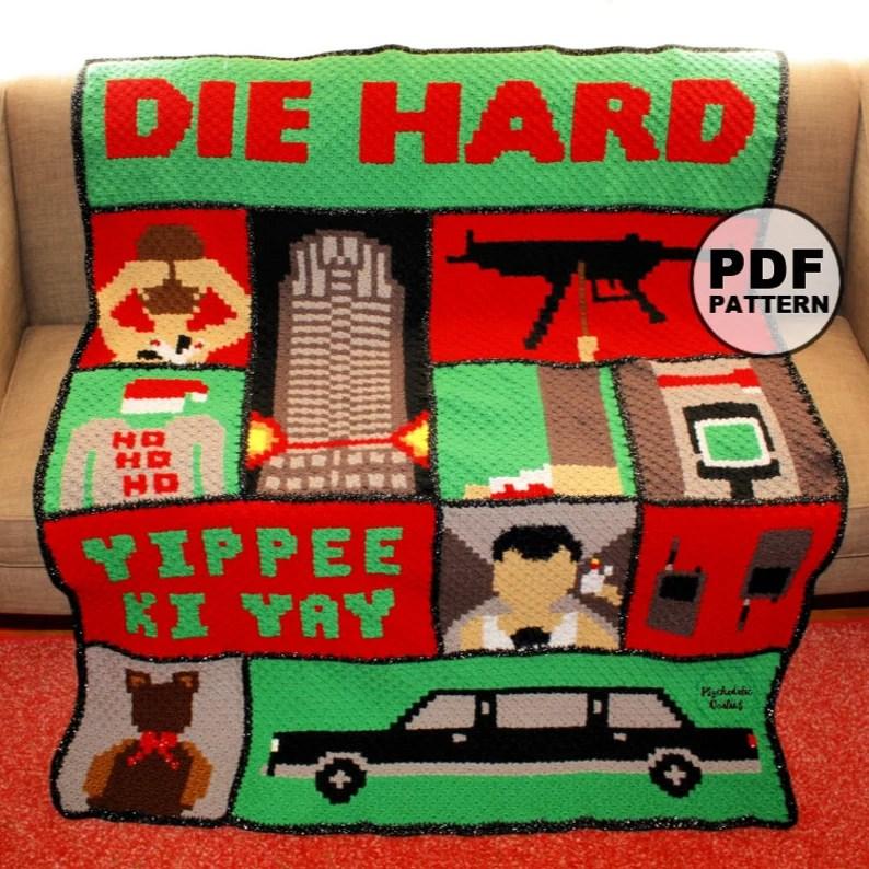 Die Hard Christmas Blanket