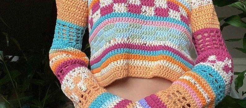 70's Inspired Jumper Crochet Pattern by RugratzCrochet