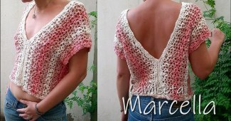 Blusa crochet sencilla verano