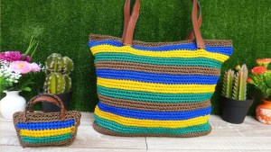 Bolso crochet sencillo