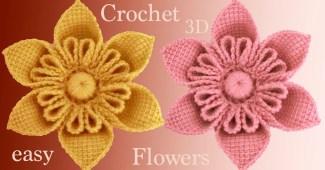 Flores 3D crochet