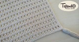 Mantel tejido a crochet
