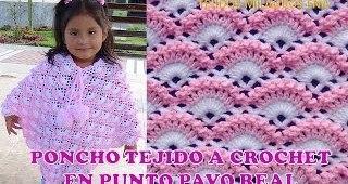 Poncho niña crochet