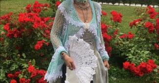 Torera crochet elegante