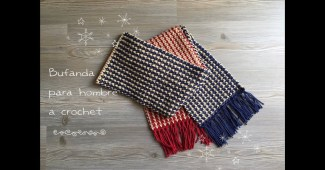 Bufanda crochet hombres