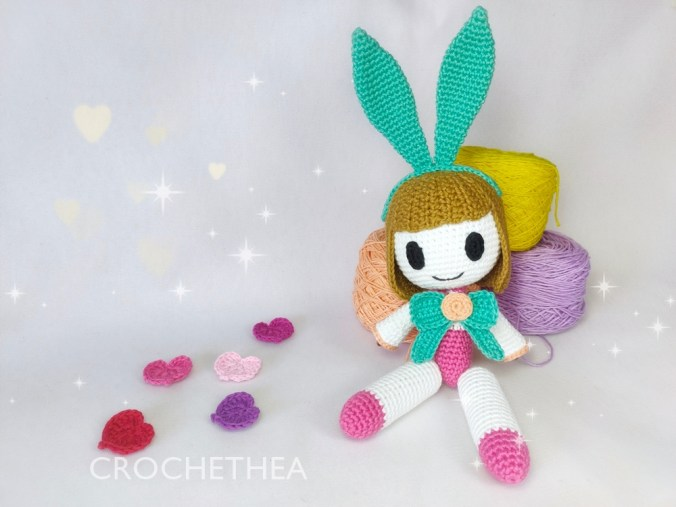 crochet Angela amigurumi from Mobile Legends