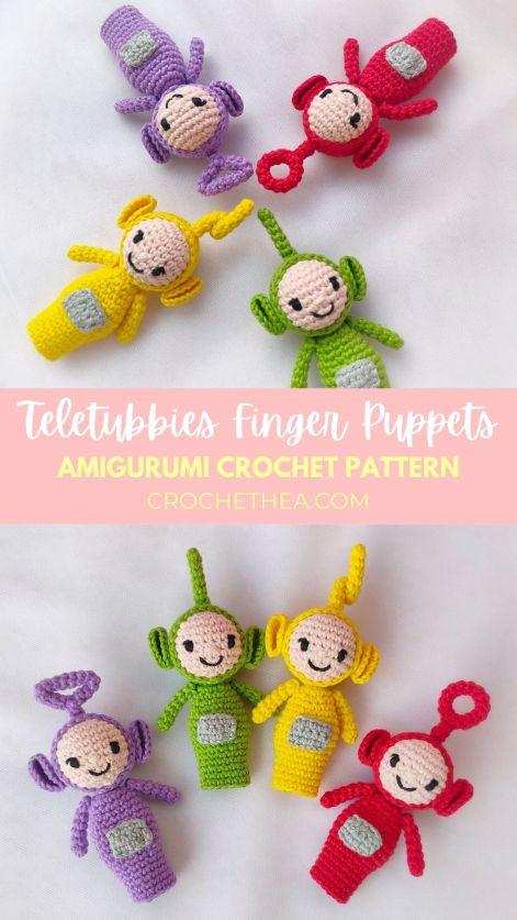 teletubbies finger puppet amigurumi pinterest
