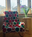 Hexagons made by Pauline and Anne, joined by Natasja