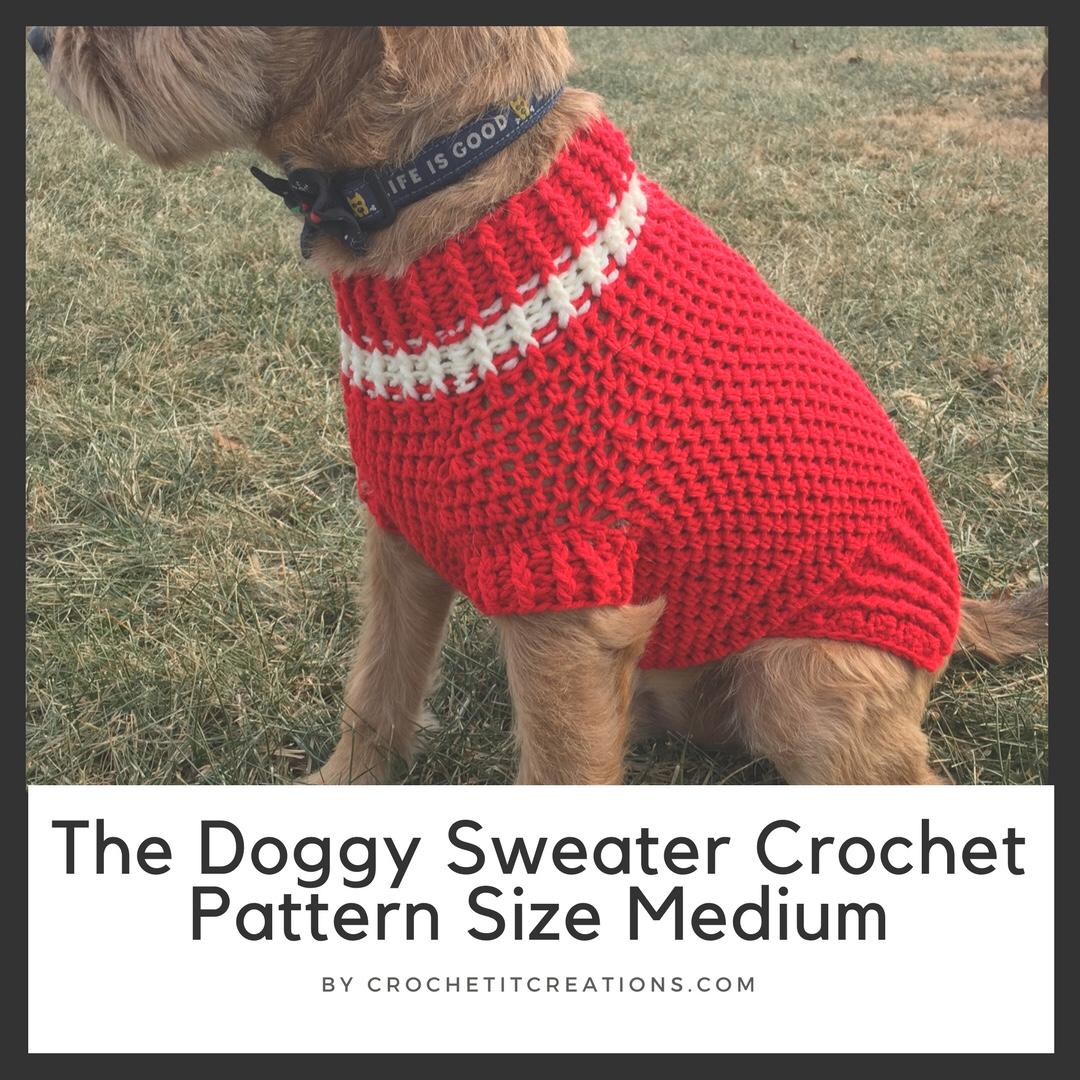 The Doggy Sweater Size Medium Crochet It Creations