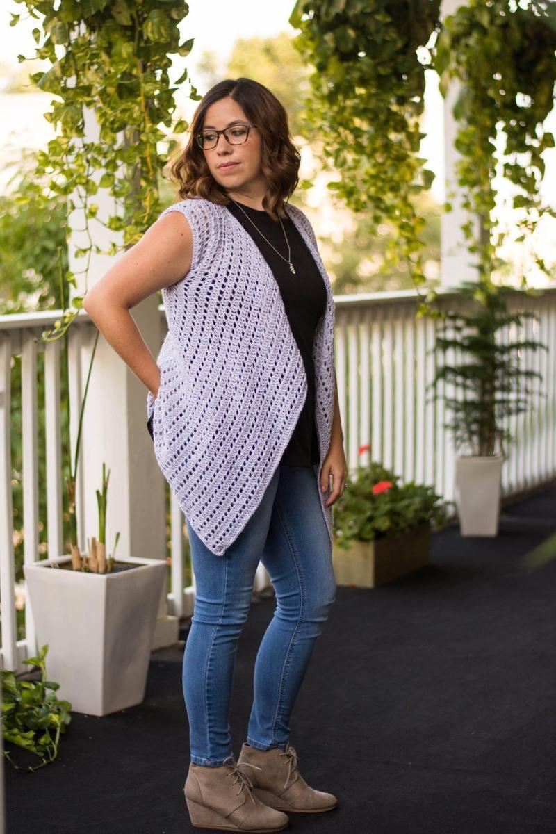 Waterfall Cardigan Crochet Pattern
