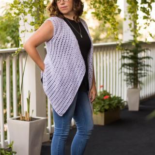 Adult crochet vest shirt cardigan top pattern