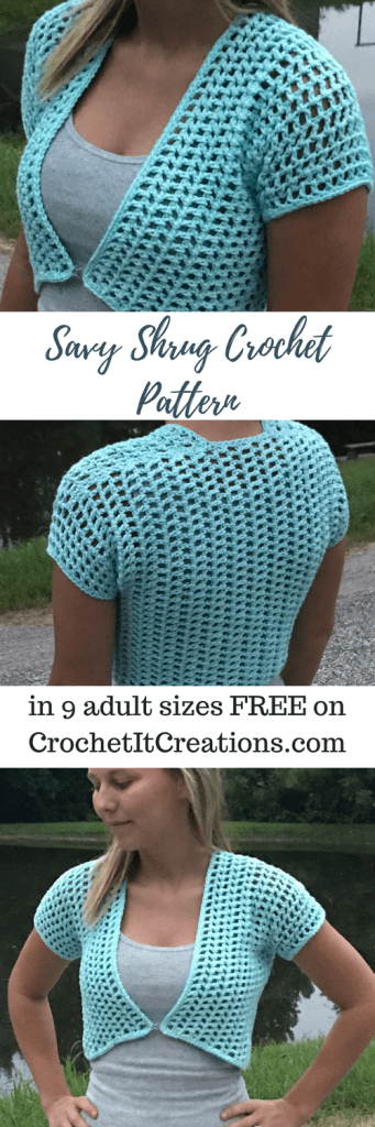 Savy Shrug Free Crochet Pattern By Crochet It Creations