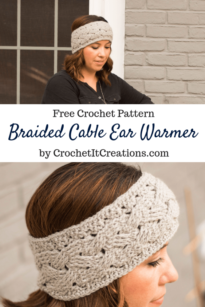 Braided Cable Ear Warmer Crochet Pattern Crochet It Creations