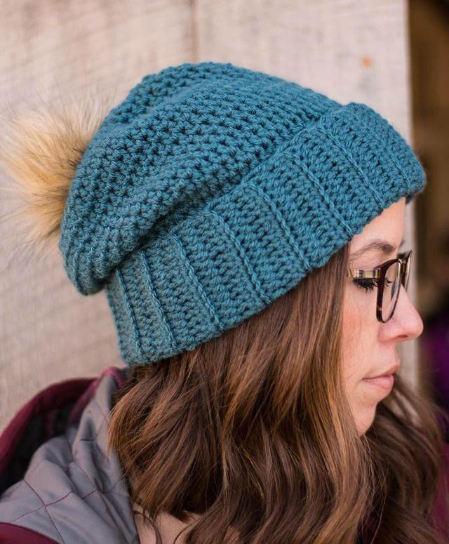 Simple Slouchy Beanie Crochet Pattern - Crochet it Creations f058b0d84e3