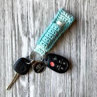 Chapstick Keychain Wristlet Crochet Pattern