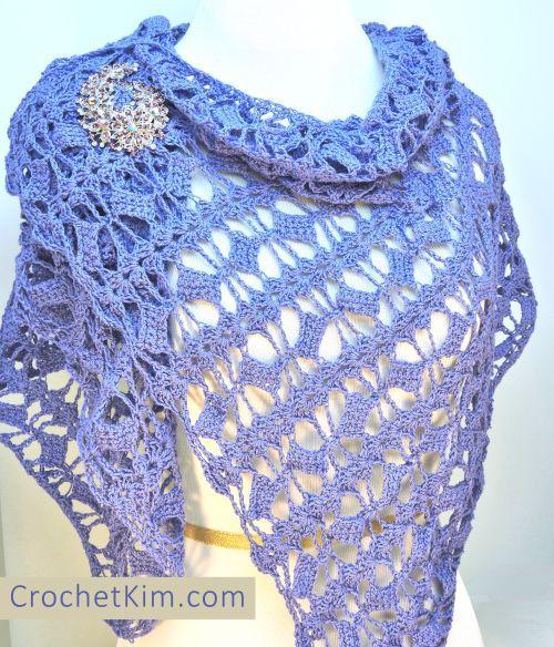 CrochetKim Free Crochet Pattern | Butterfly Fling Shawlette @crochetkim