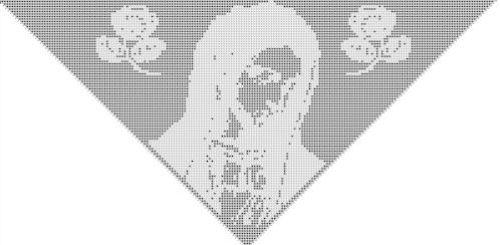 CrochetKim Free Crochet Pattern | Holy Mother Filet Shawl @crochetkim