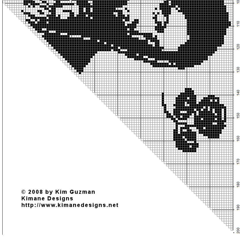 Holy Mother Filet Shawl Crochet Chart | free crochet pattern @crochetkim
