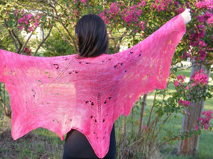 CrochetKim Free Crochet Pattern | Mariposa Lace Shawl Free Crochet Pattern @crochetkim