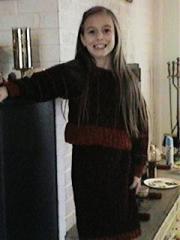 CrochetKim Free Crochet Pattern   Chenille Stripes Sweater and Skirt @crochetkim