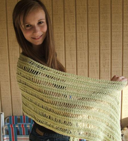CrochetKim Free Crochet Pattern | Spring Shawl @crochetkim