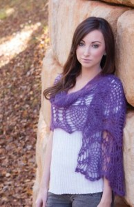 Free Crochet Pattern: Purple Passion Wrap