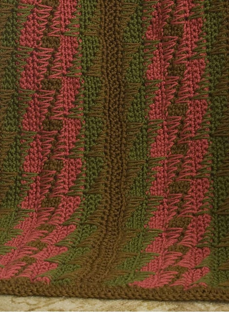 Free Crochet Pattern: Bargello Throw