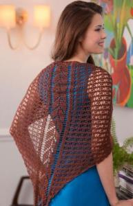 Free Crochet Pattern: Falling Leaves Shawl