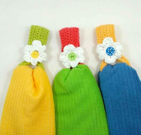 Daisy Towel Holder Free Crochet Pattern Crochetkim