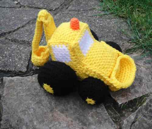 Free Crochet Pattern: Construction Digger
