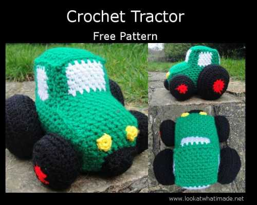 Free Crochet Pattern: Construction Tractor