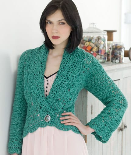 Free Crochet Pattern: Filigree Cardigan