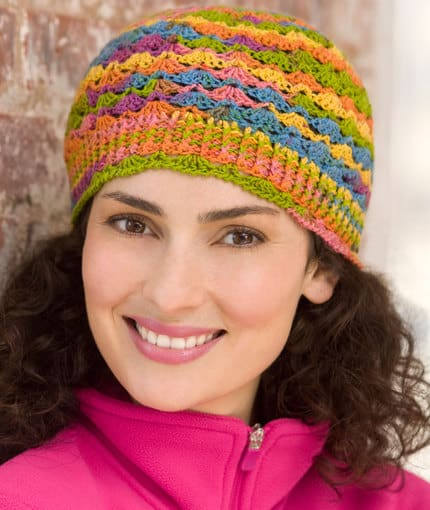 Free Crochet Pattern: Lace Hat and Mitts