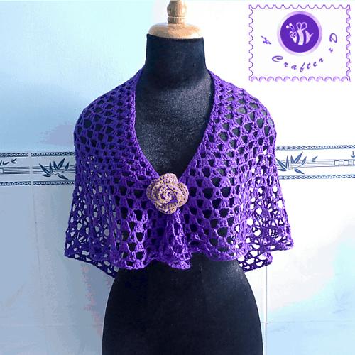 Free Crochet Pattern: Purple Glam Shawl