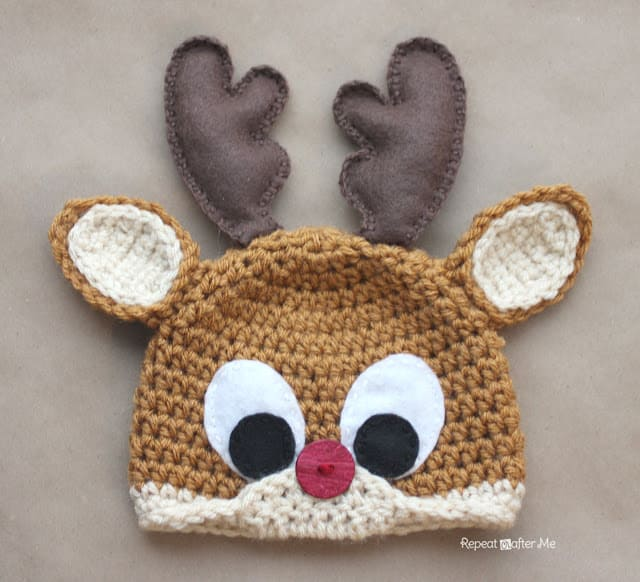 Free Crochet Pattern: Rudolph the Reindeer Hat