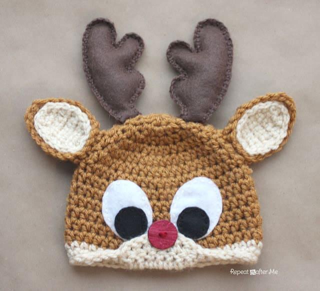 Free Crochet Pattern: Rudolph the Reindeer Hat