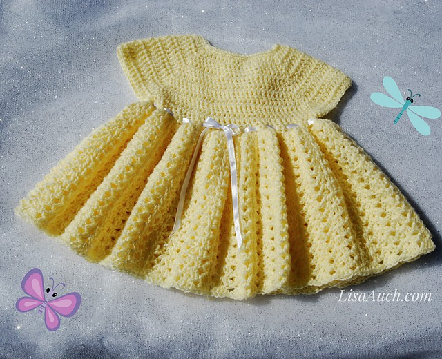 Easy Baby Dress Free Crochet Pattern Crochetkim