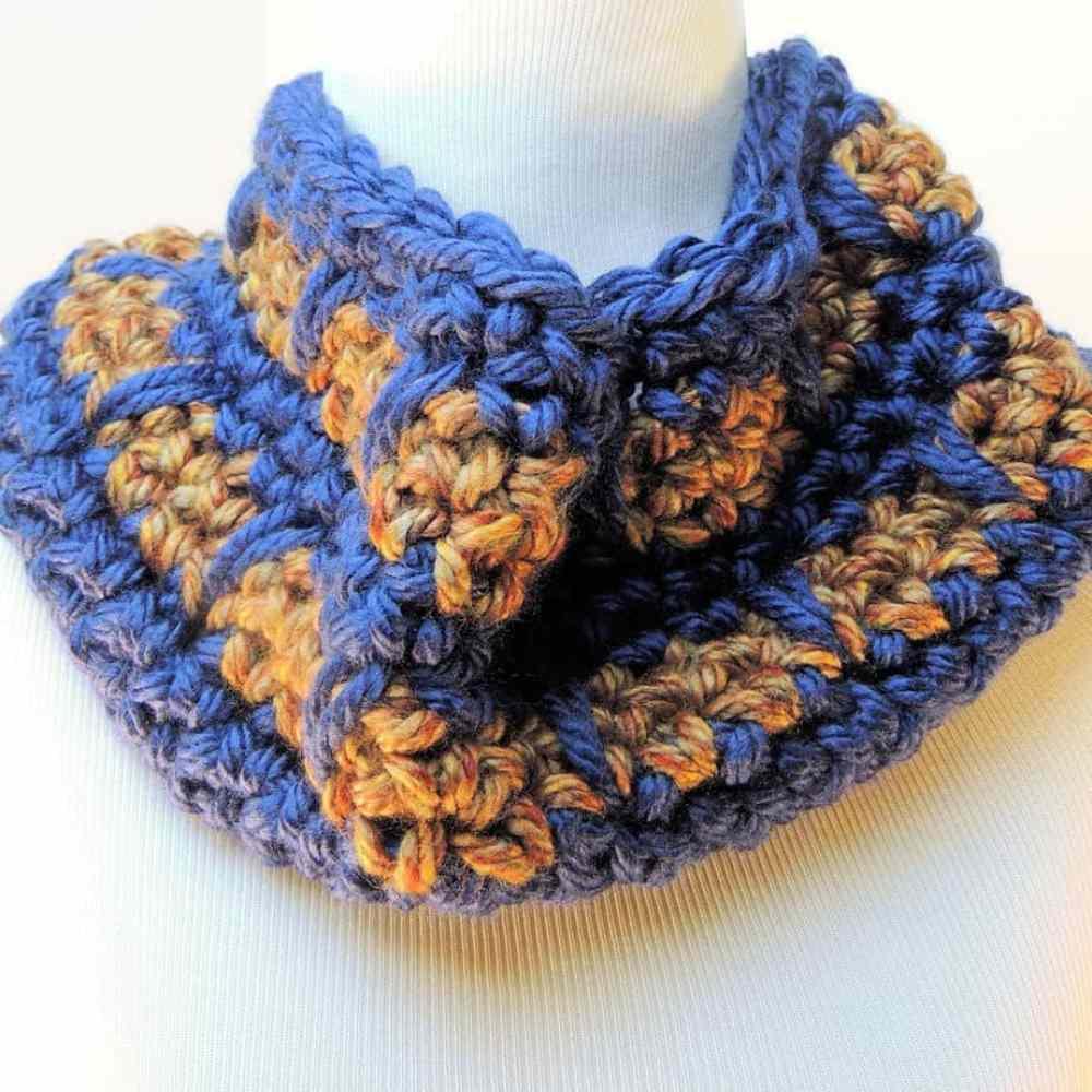 Spike Stitch Cowl CrochetKim Free Crochet Pattern