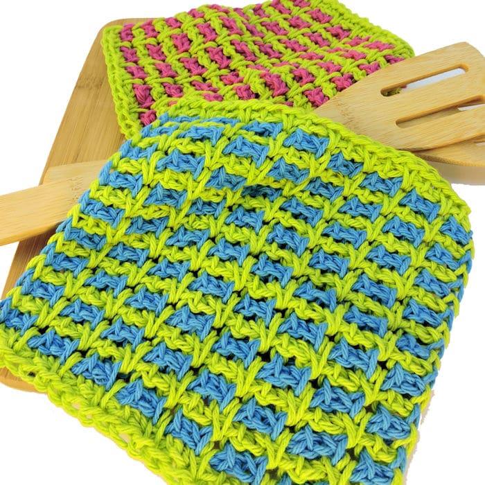 Wishy Washies Washcloths Free Tunisian Crochet Pattern Crochetkim