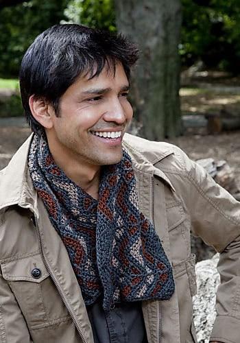 His Aspen Scarf   CrochetKim Free Crochet Pattern