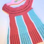 CrochetKim Free Crochet Pattern | Devon Striped Baby Sweater