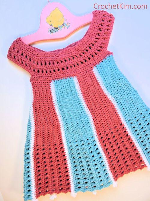 CrochetKim Free Crochet Pattern | Carousel Baby Dress