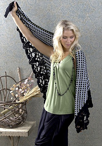 Delhi Shawl Wrap | CrochetKim Free Crochet Pattern