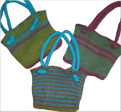CrochetKim Free Crochet Pattern | Tunisian Easy Felted Bag