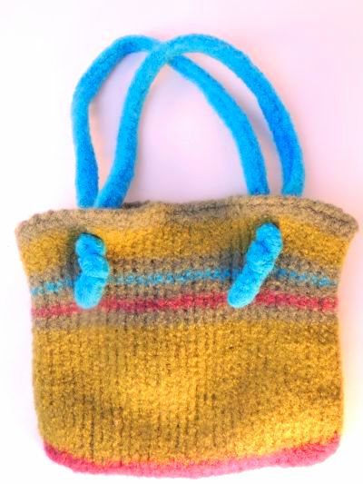 CrochetKim Free Crochet Pattern | Tunisian Easy Felted Bag @crochetkim
