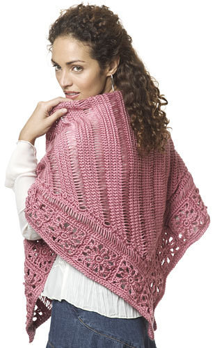 Friendship Broomstick Lace Shawl Free Crochet Pattern