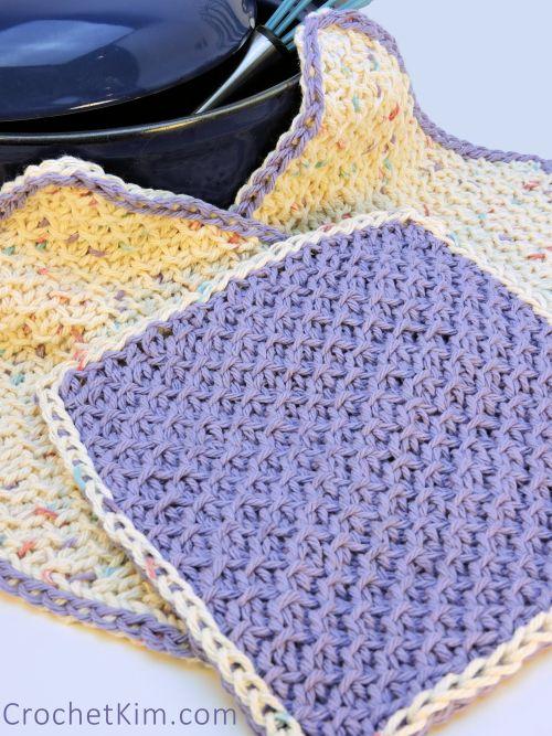 Honeycomb Scrubs Washcloth Dishcloth Free Tunisian Crochet Pattern
